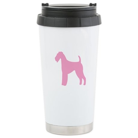 Just Airedale (Pink) Stainless Steel Travel Mug