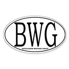 BWG Oval Decal