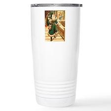 vintage santa green Ceramic Travel Mug