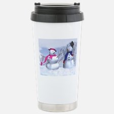 snow couple Travel Mug