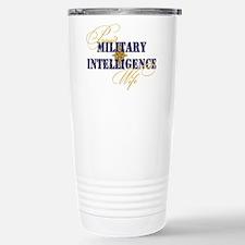 Proud Military Intelligence W Travel Mug
