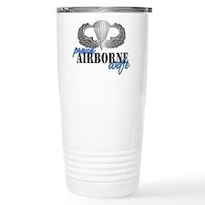 Proud Airborne Wife Travel Mug