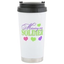 Missing My Soldier Travel Coffee Mug