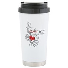 Navy Wife - Proud & Strong Travel Mug