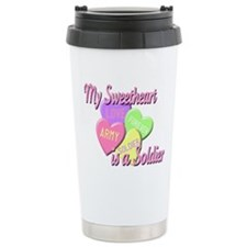 My Sweetheart is a Soldier Travel Mug