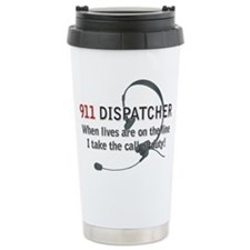 911 Dispatcher Lives on the L Travel Mug