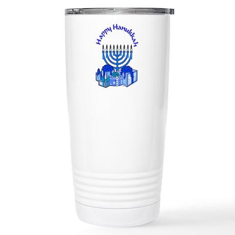 happy hanukkah Stainless Steel Travel Mug