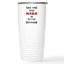 kiss a veteran Travel Mug