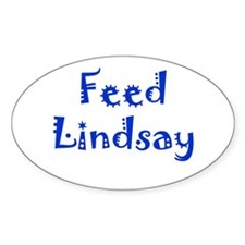 Feed Lindsay Section Oval Bumper Stickers