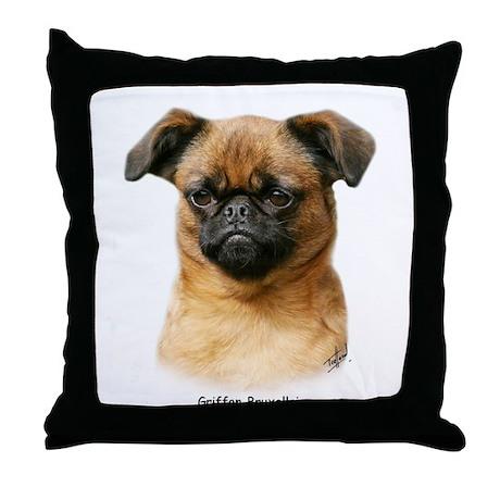 Griffon Bruxellois 9Y406D-129 Throw Pillow
