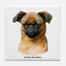 Griffon Bruxellois 9Y406D-129 Tile Coaster