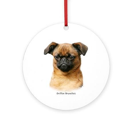 Griffon Bruxellois 9Y406D-129 Ornament (Round)