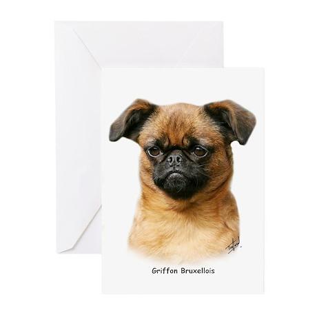 Griffon Bruxellois 9Y406D-129 Greeting Cards (Pk o