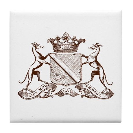 Heralding Greyhounds and Whippets - Tile Coaster