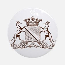 Heralding Greyhounds and Whippets - Ornament (Roun