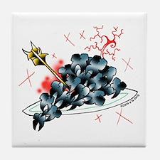 cavituous grapes Tile Coaster