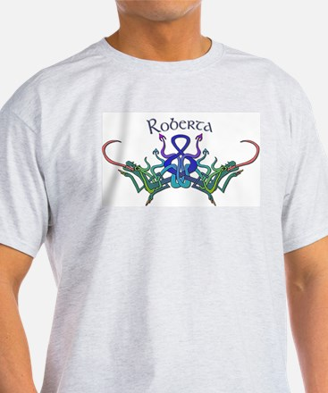 Roberta's Celtic Dragons Name Ash Grey T-Shirt