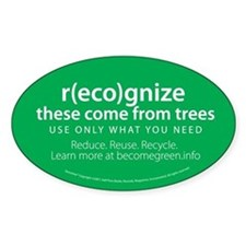 """These Come From Trees"" Oval Sticker (10 pk)"