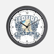 Polar Bear Florida Wall Clock