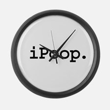 iPoop. Large Wall Clock