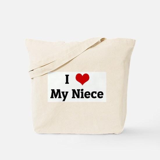 I Love My Niece Tote Bag