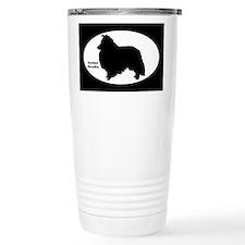 Shetland Sheepdog Silhouette Travel Mug