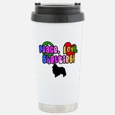 Hippie Sheltie Stainless Steel Travel Mug