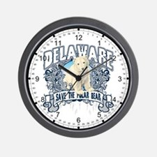 Polar Bear Delaware Wall Clock