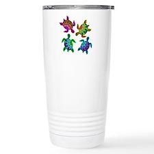Multi Painted Turtles Travel Coffee Mug
