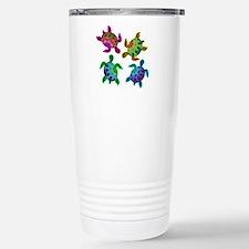 Multi Painted Turtles Travel Mug