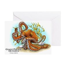 Giant Pacific Octopus Greeting Card