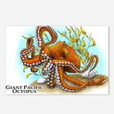 Giant Pacific Octopus Postcards (Package of 8)