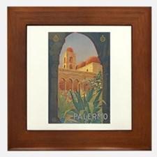 Palermo Travel Poster Framed Tile
