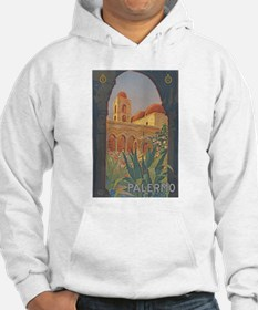 Palermo Travel Poster Hoodie