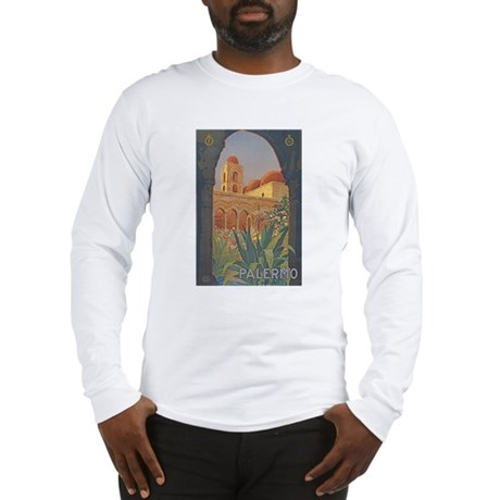 Palermo Travel Poster Long Sleeve T-Shirt
