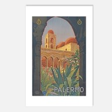 Palermo Travel Poster Postcards (Package of 8)