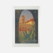 Palermo Travel Poster Rectangle Magnet