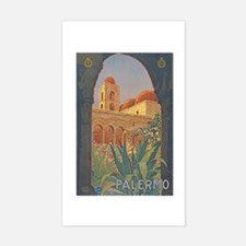 Palermo Travel Poster Rectangle Decal