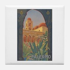 Palermo Travel Poster Tile Coaster