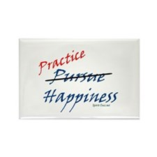 PRACTICE HAPPINESS Rectangle Magnet