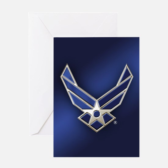 U.S. Air Force Logo Detailed Greeting Card