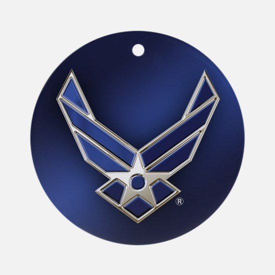 U.S. Air Force Logo Detailed Round Ornament