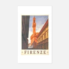 Assisi Travel Poster Rectangle Decal