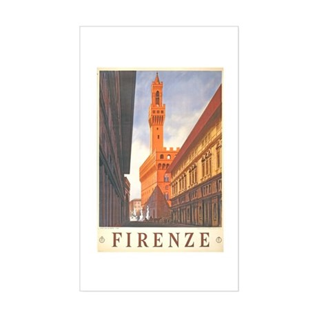 Assisi Travel Poster Rectangle Sticker