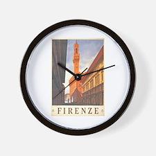 Assisi Travel Poster Wall Clock