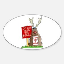 Do Not Feed the Bears Oval Decal