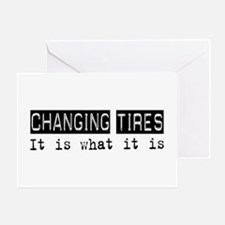 Changing Tires Is Greeting Card