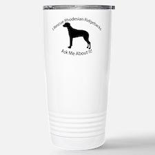 I RESCUE Ridgebacks Travel Mug