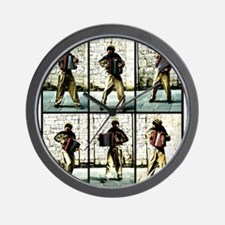Accordian Man Wall Clock