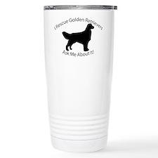 I RESCUE Golden Retrievers Thermos Mug